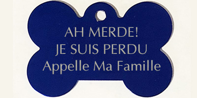 medaille pour chien os