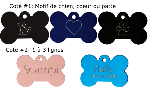 medaille os pour chien ou chat